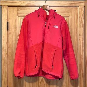 The north face outdoor zip up fleece jacket